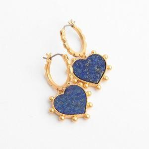 Tory Burch ♥️NEW♥️ Semi Precious Heart Charm Earri